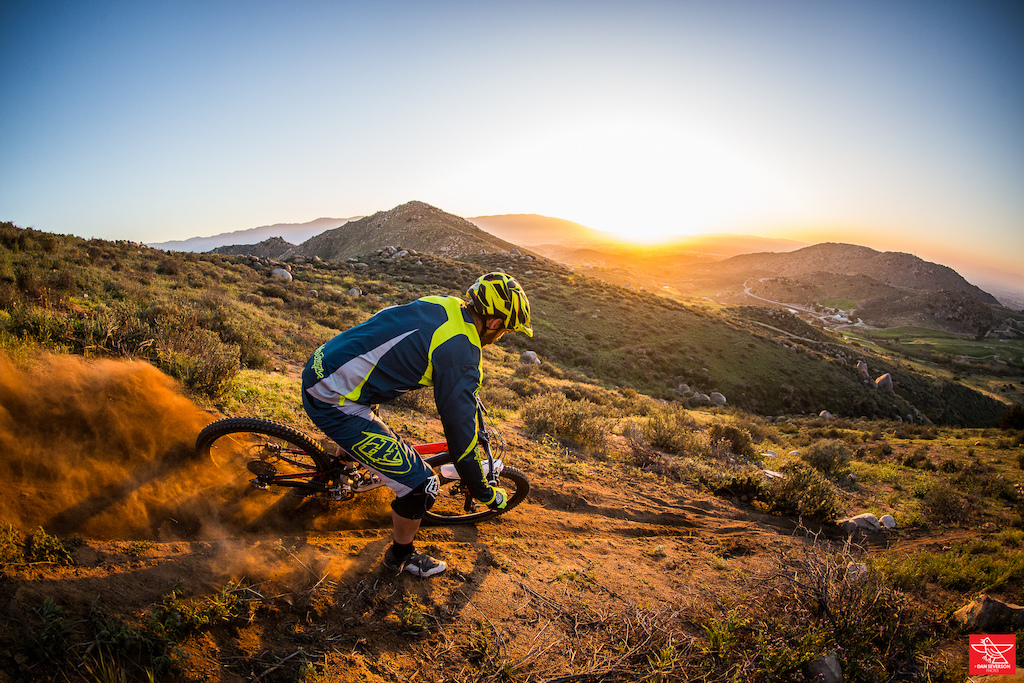 Testing out a loose turn up in the hills.