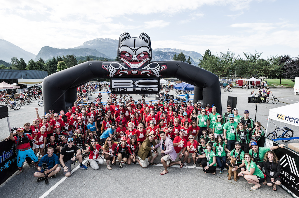 BC Bike Race Crew Photo