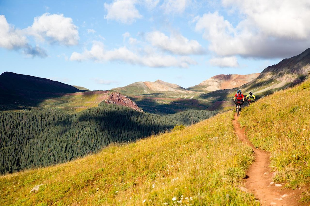 Eric Porter and Jess Pederson pedal 80 miles from Silverton to Durango on the Colorado trail.
