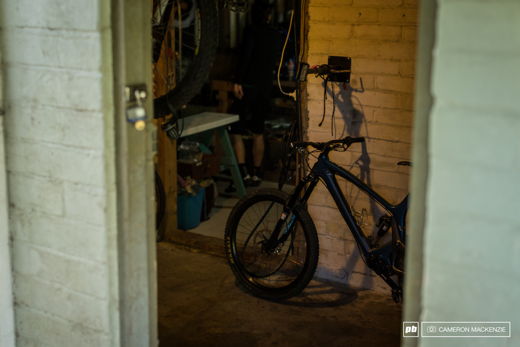 The original Zerode trail bike hiding in the back of the Bomb Shelter
