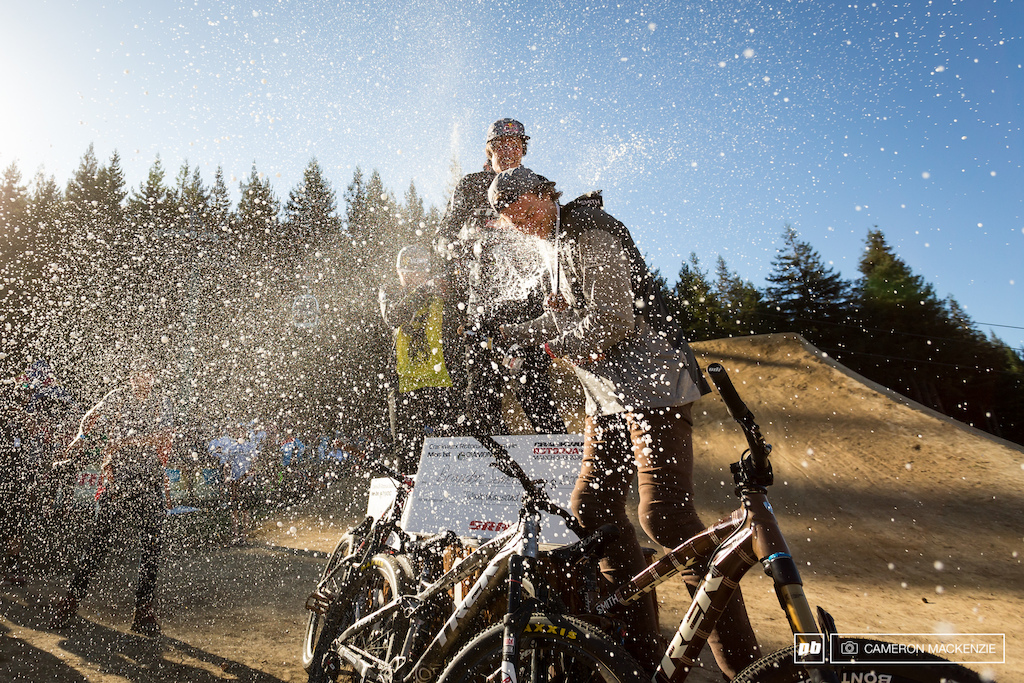 Champagne showers well earned
