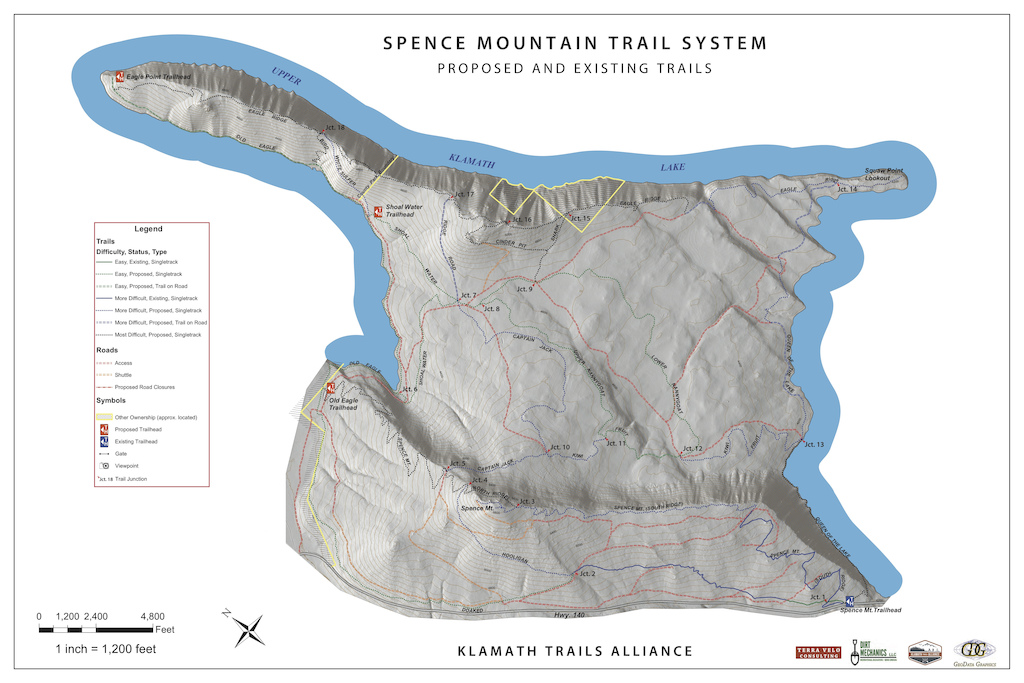 Spence Mountain Proposed Trail System