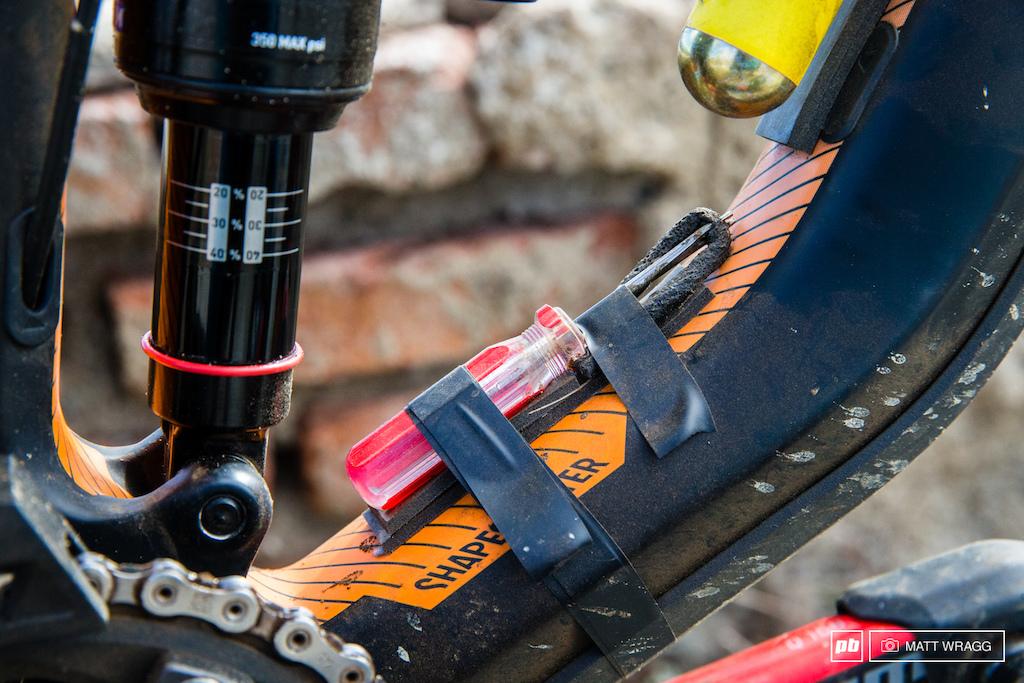 Justin Leov bike check