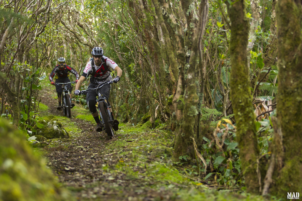 Hmmm, the 'love' tunnels of Visit Azores. MADproductions riders, Paulo Sergio Batista and Rui Sousa riding down some of Europe's finest singletracks.