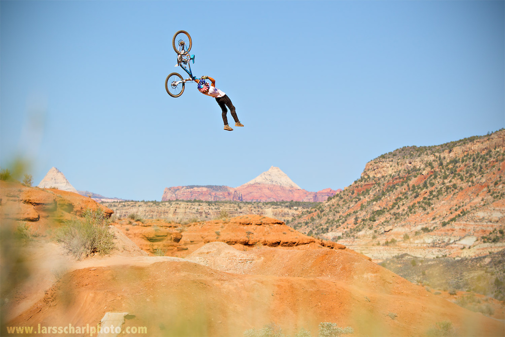 Two years ago Ethen sent this Scorpion / Tsunami flip on Antoine's jump in Virgin, UT... good times! Printed in FREERIDE Magazine.