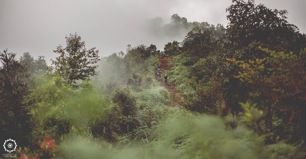 The reward after a long climb, riding down Doi Inthanon (2100m above sea level).