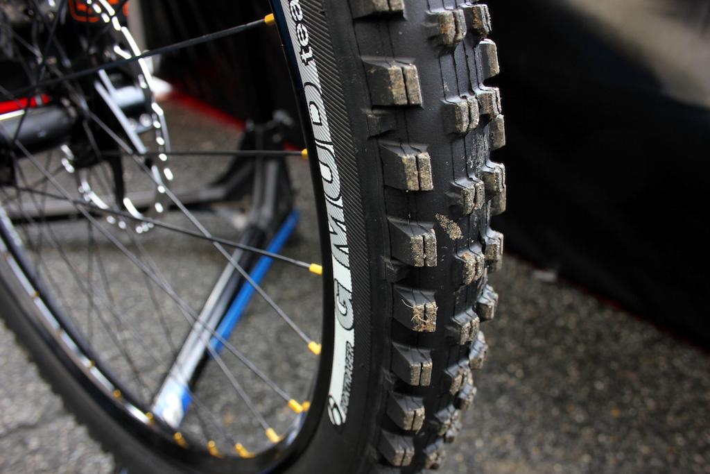 Gee Atherton s Bontrager G Mud tires