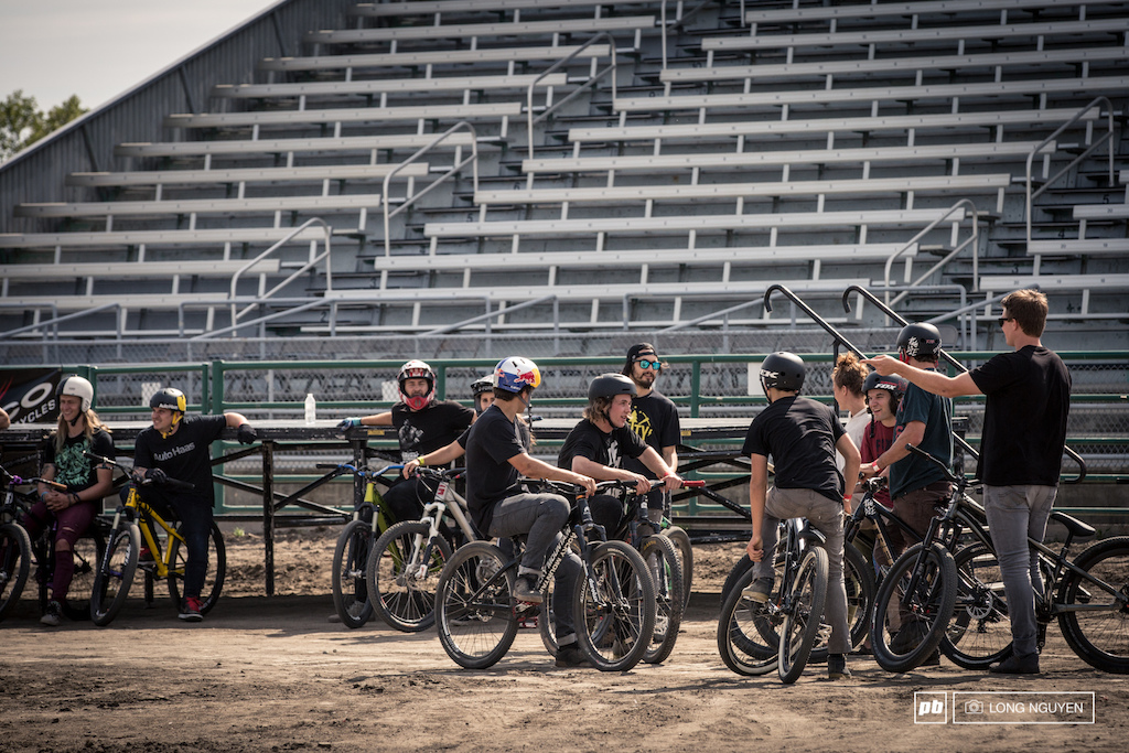 Everyone is ready to ride. Plenty of riders and talent. Saturday's final will be filled with laughs and entertainment.