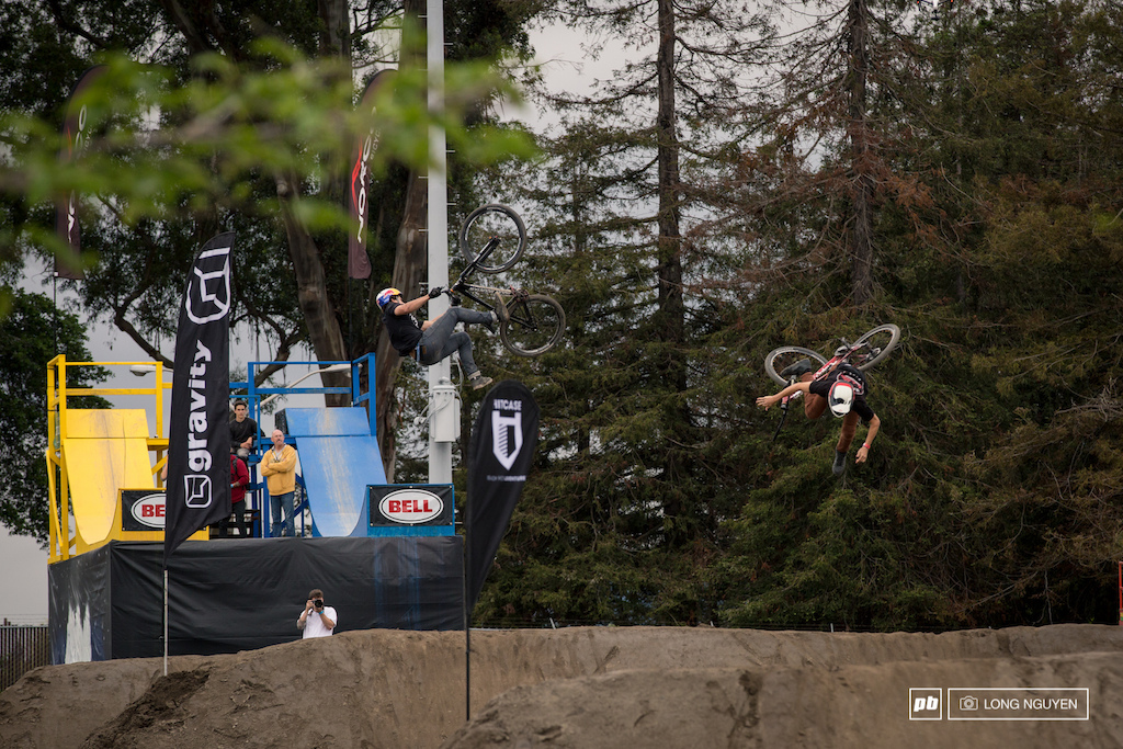 Carson Storch vs Reed Boggs. Carson throwing a flip whip but Reed had to hit the eject button.