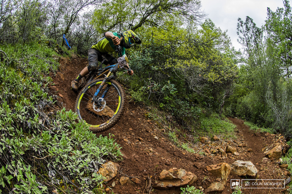 Mason Bond dropping in on stage 10.