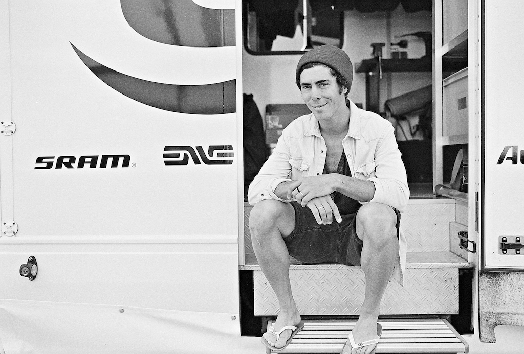 Marco Fontana in chill mode after a day of practice