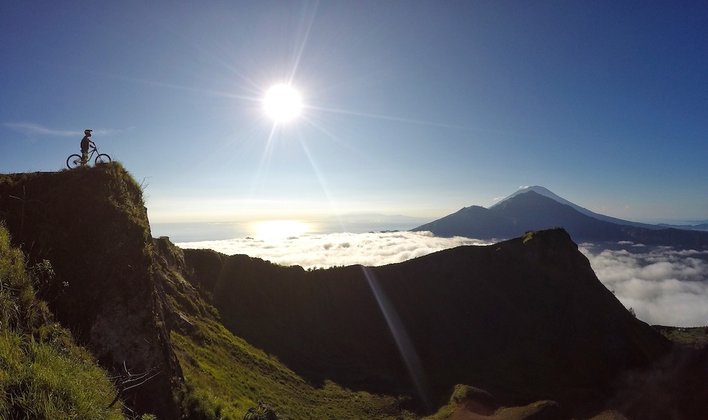 Above the clouds on Batur.