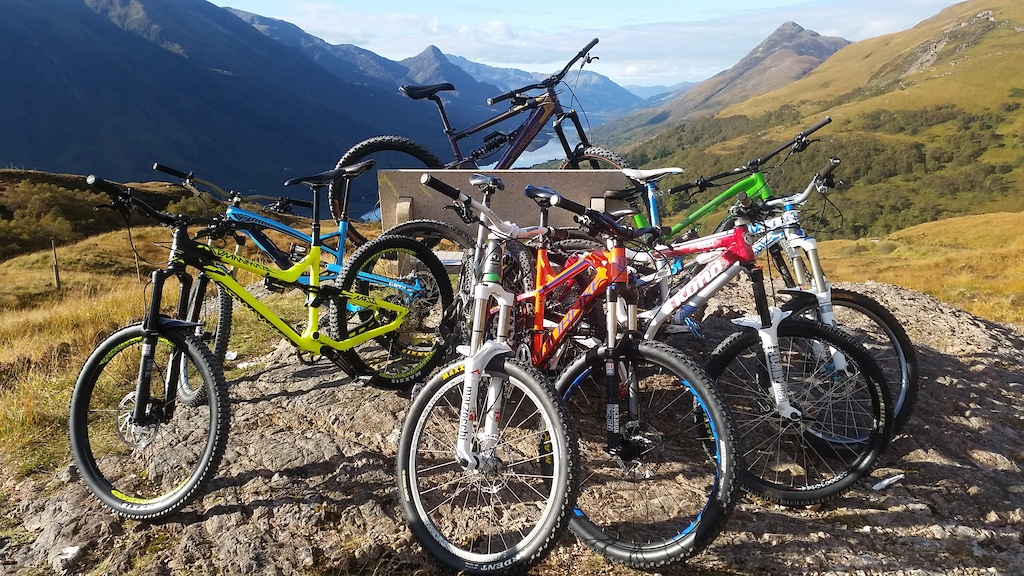 All the lads sunny day out in Kinlochleven.