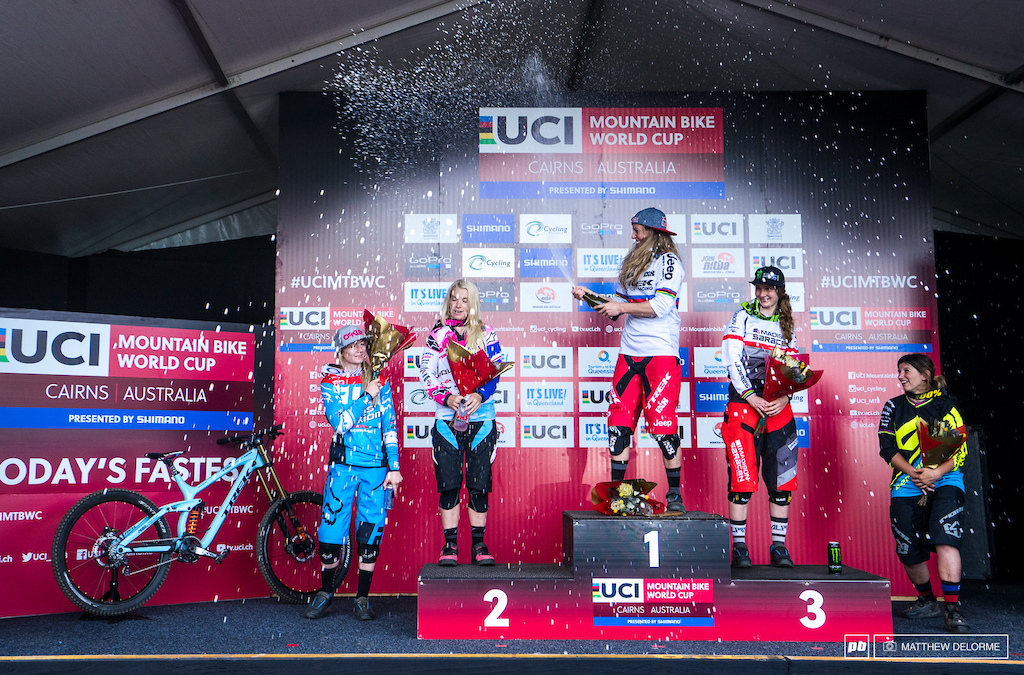 Rachel Atherton once again with a commanding win.