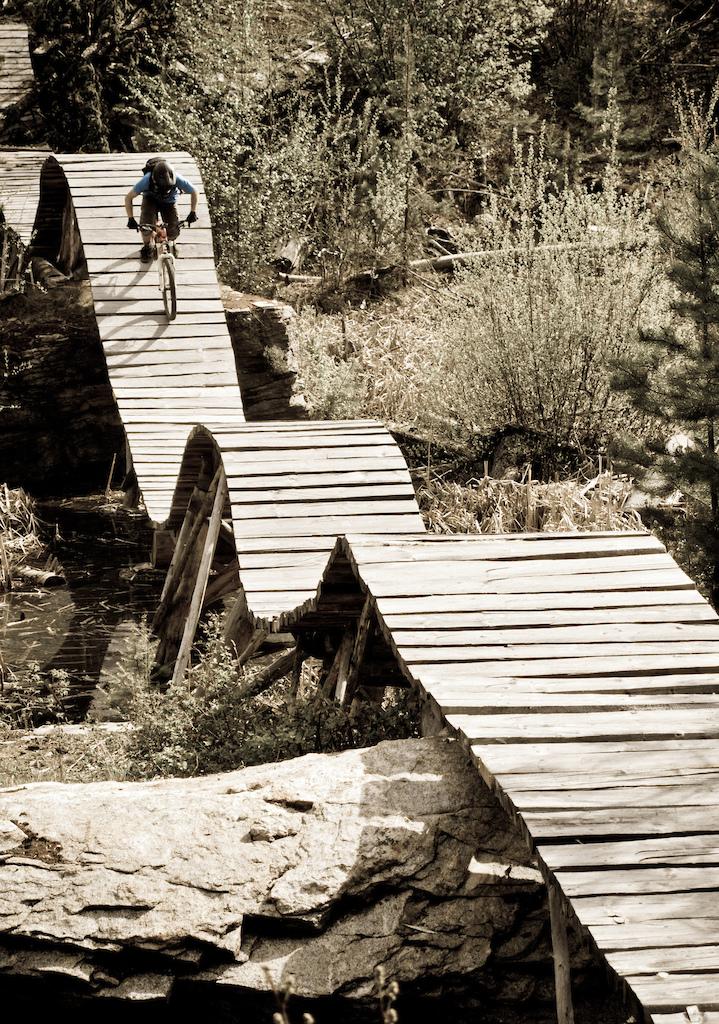 Is this the raddest bridge ever built on a bike trail