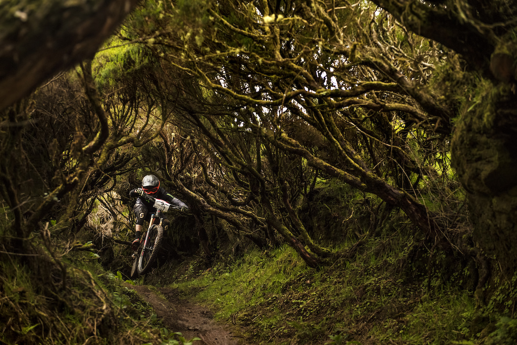 Ruben is testing brand new Ghost PathRiot on Tim's Burton fairyTrail in Madeira Island!