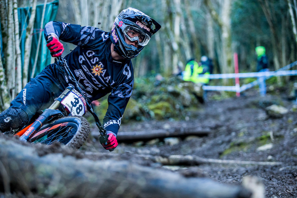 during the 2016 UCI MTB World Cup round one Lourdes France.