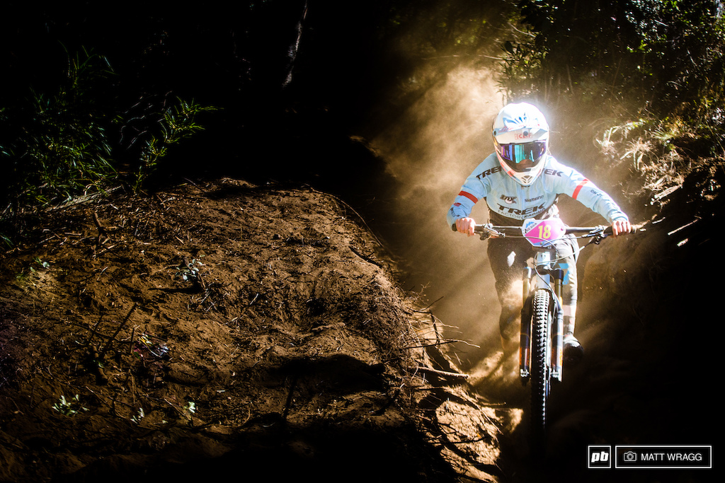 Casey Brown was the sensation in the women's race this weekend, blitzing her way to a stunning second place on her EWS debut.