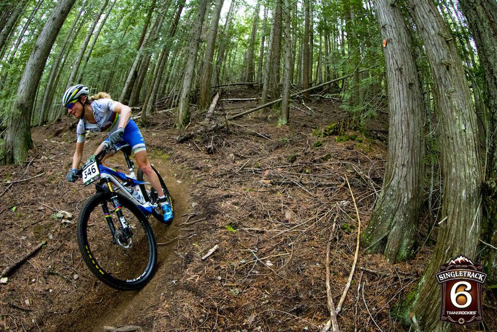 rider Catharine Pendrel wins Stage 1 location Salmon Arm B.C. Canada