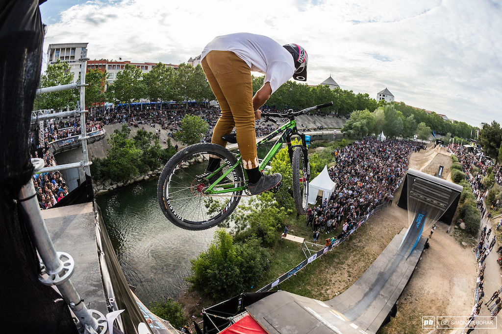 Local rider from Marseille Tomas Lemoine went big for the crowd.