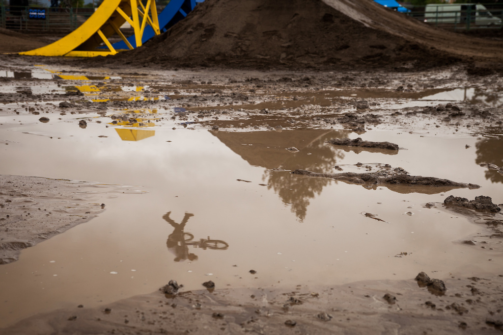 Was quite the muddy day after the rain postponed the event until Sunday