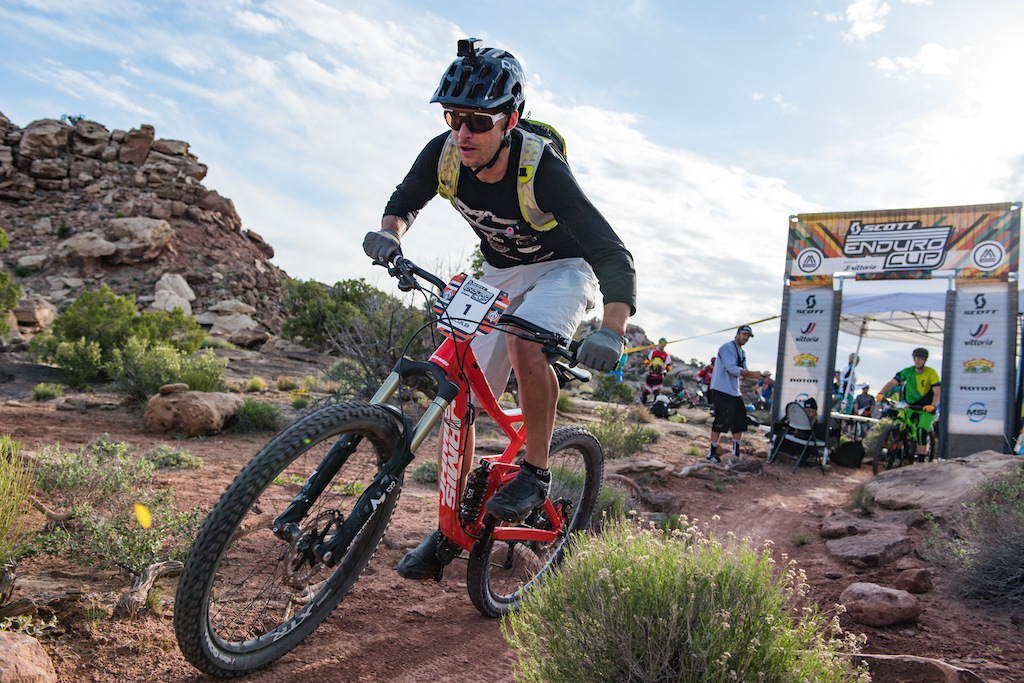 Macky Franklin at the 2016 SCOTT Enduro Cup in Moab Utah