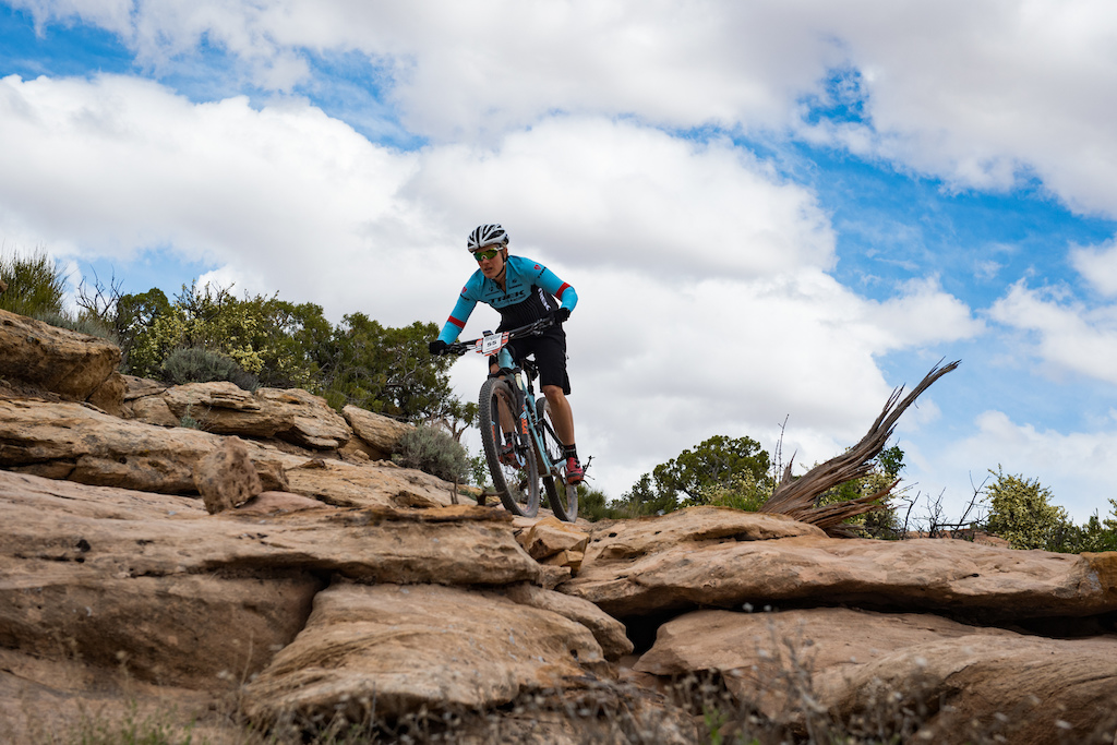 Katie Compton at the 2016 SCOTT Enduro Cup in Moab Utah