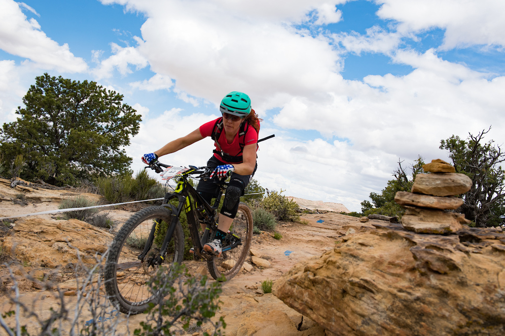 Teal Stetson-Lee at the 2016 SCOTT Enduro Cup in Moab Utah