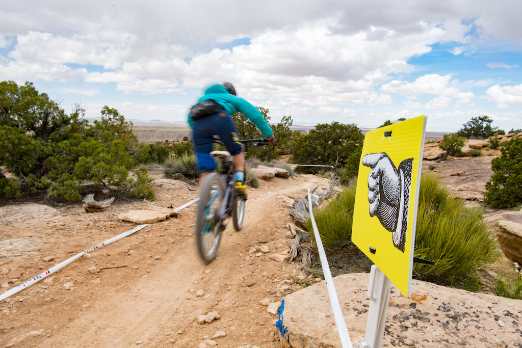 Rider at the 2016 SCOTT Enduro Cup in Moab Utah