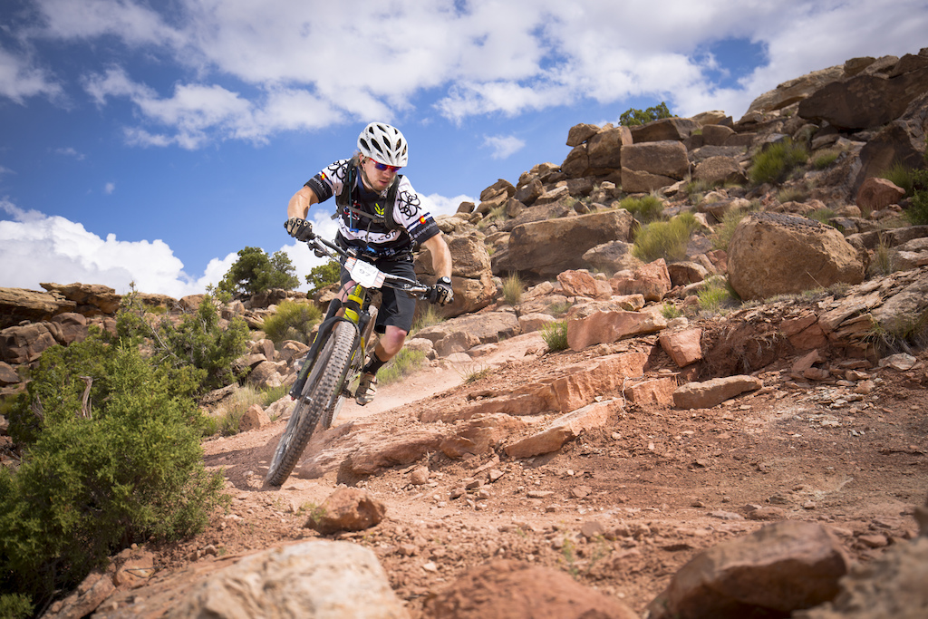 Cory Wittwer at the 2016 SCOTT Enduro Cup presented by Vittoria in Moab Utah