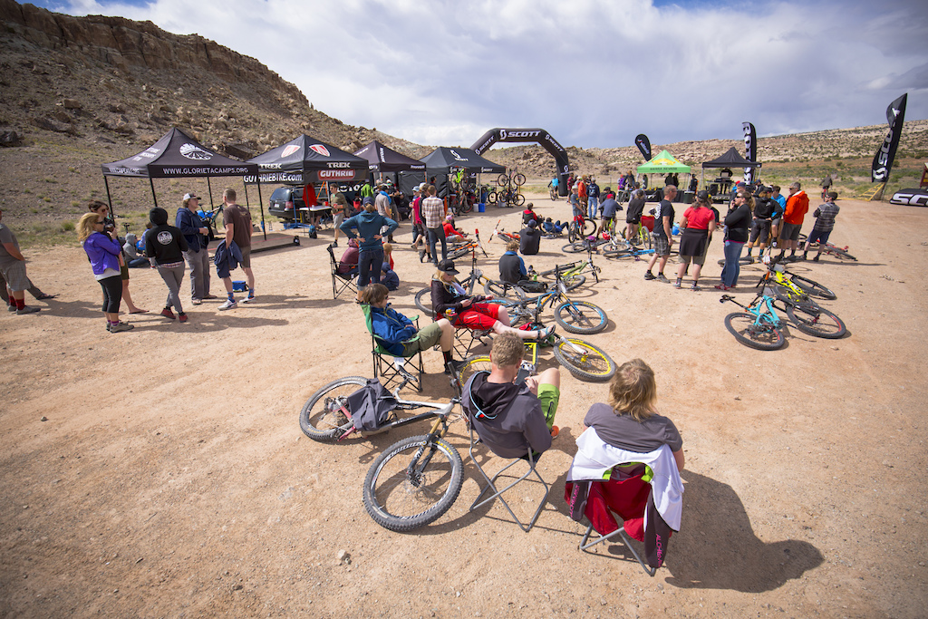 Expo area of the 2016 SCOTT Enduro Cup presented by Vittoria in Moab Utah