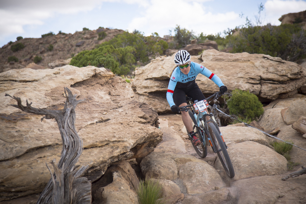 Katie Compton at the 2016 SCOTT Enduro Cup presented by Vittoria in Moab UT