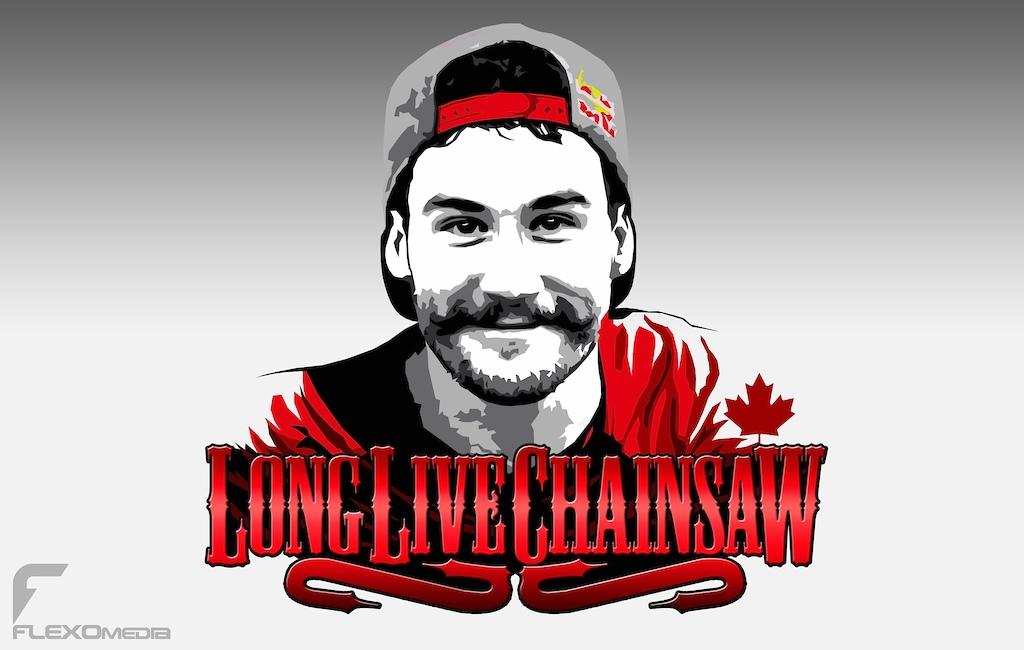 A little design I did for a hero we lost today. #longlivechainsaw