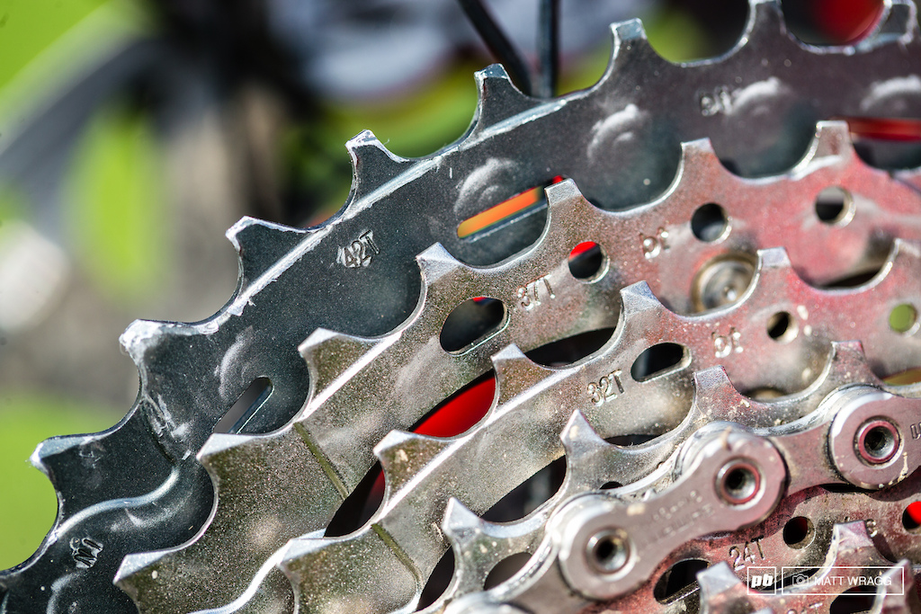 A quick straw poll of Shimano riders shows that nearly all of them are giving up the carbon titanium weight saving sexiness of XTR for the chance to go up to a 42t cassette with XT.