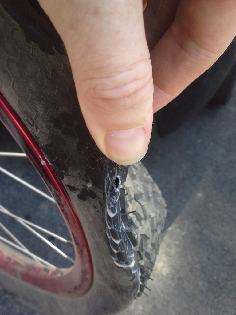 nasty impact, luckily on right at the end of the ride as I bombed into the car park