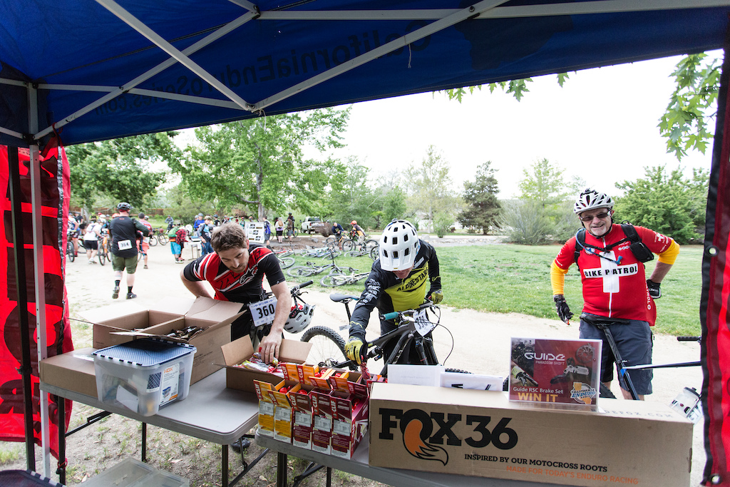 A few riders fueling up on Clif Bar products. Clif is a big supporter of the California Enduro Series in 2016.