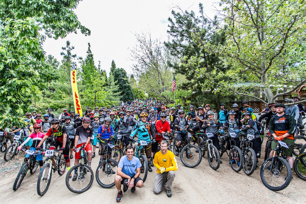 There were 350 riders registered for the 3rd Annual Battleborn Enduro Round 2 of the California Enduro Series. Pictured here are just the Sport and Beginner Racers as they left first for their start at the top of Peavine Mountain.
