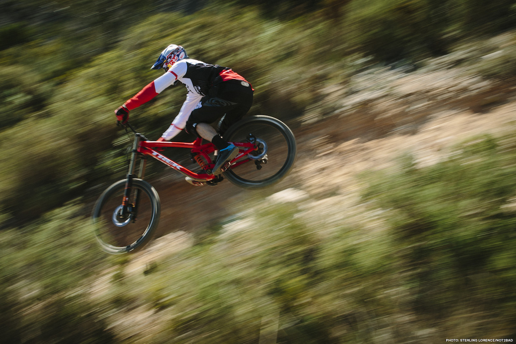 Gee Atherton riding for Not2Bad in Spain. Photo Sterling Lorence