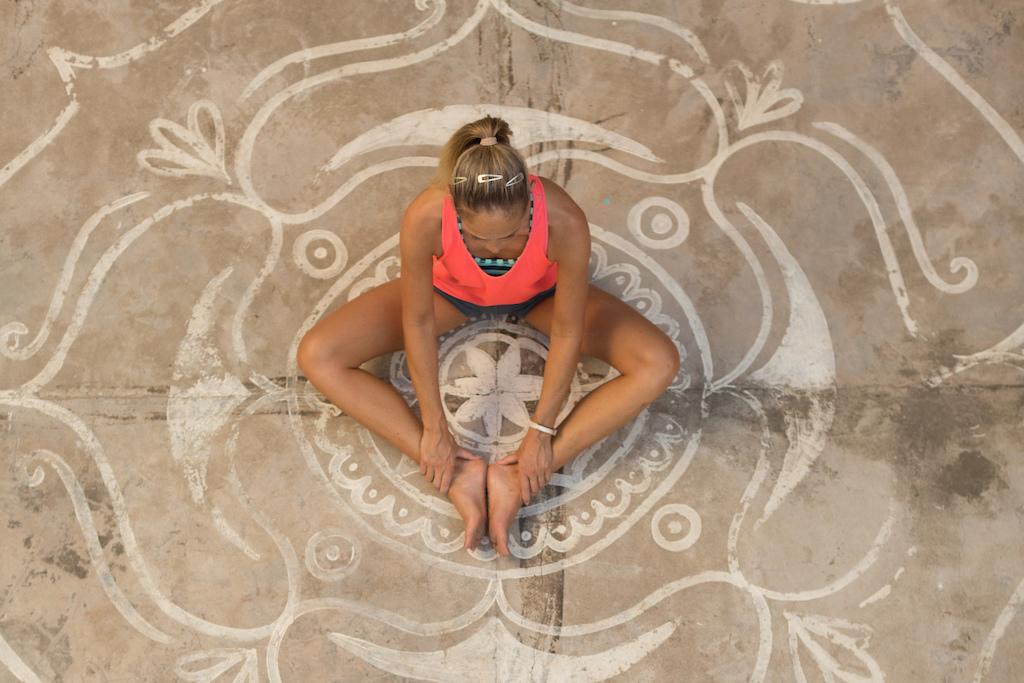 Abi doing yoga
