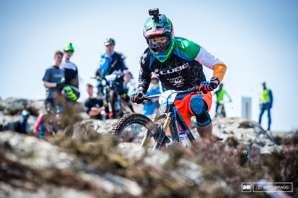For the first time this year Greg Callaghan got to race enduro with a national champion's sleeve.
