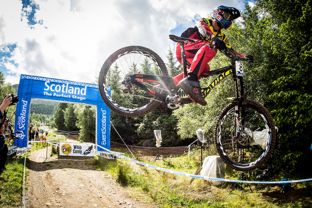 , during the Ft William MTB World Cup, Scotland. Photo Sven Martin