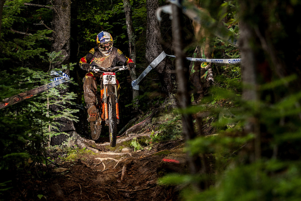 during the World Cup at Mont Saint Anne Quebec Canada. Photo Sven Martin