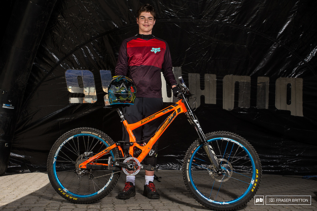 Zach Smith form North Vancouver with his bright Banshee Legend