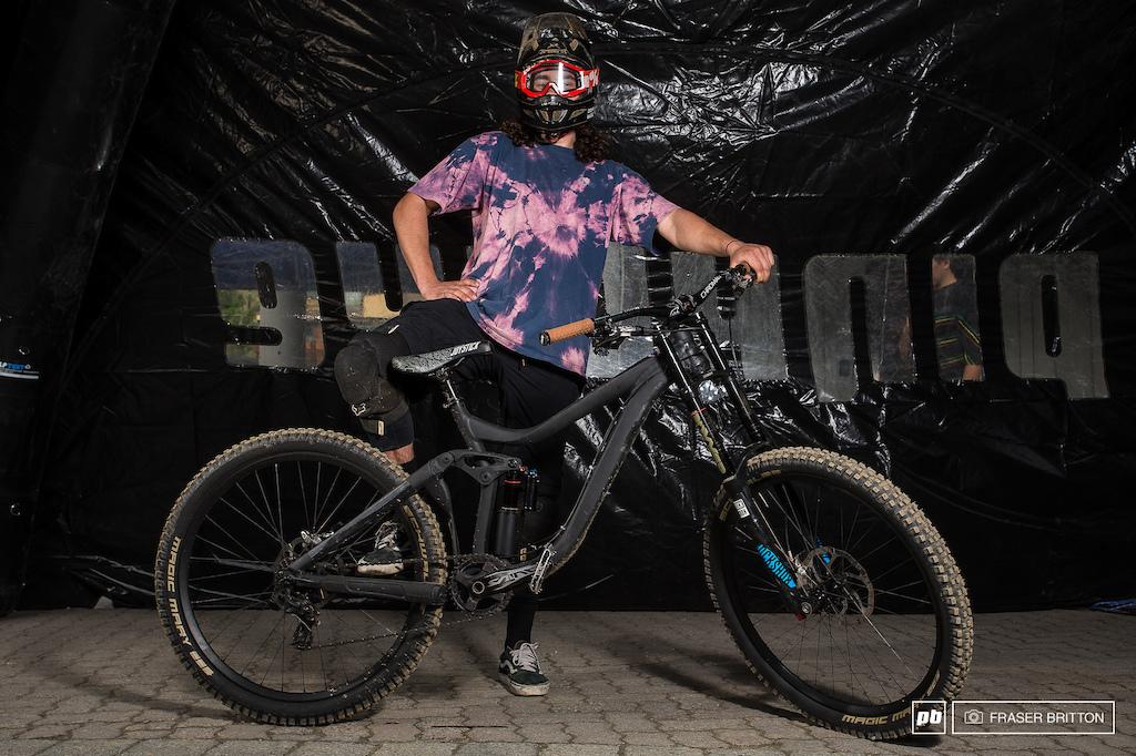 Matte Black Giant Glory Bike Park Edition