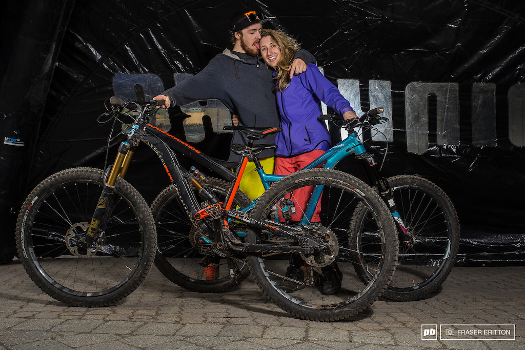 Young love in the Bike Park.