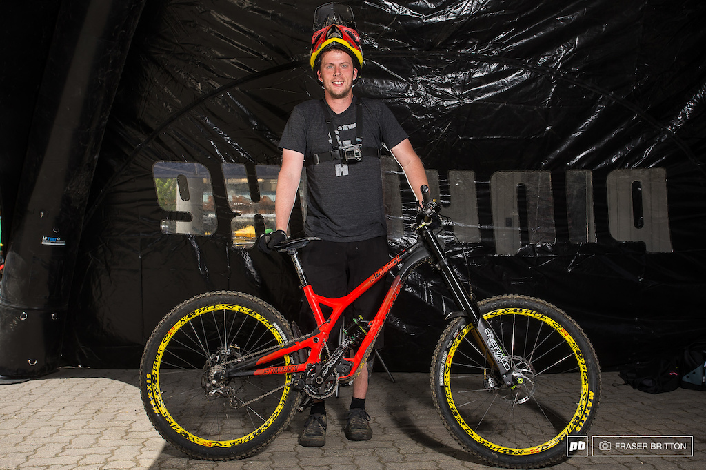 Joe Patterson with his new Commencal Supreme DH V4