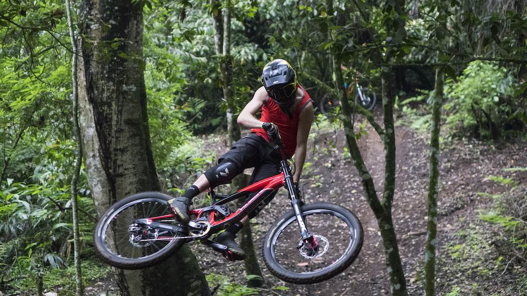 Kurt scrubbing through the Bali Bike Park