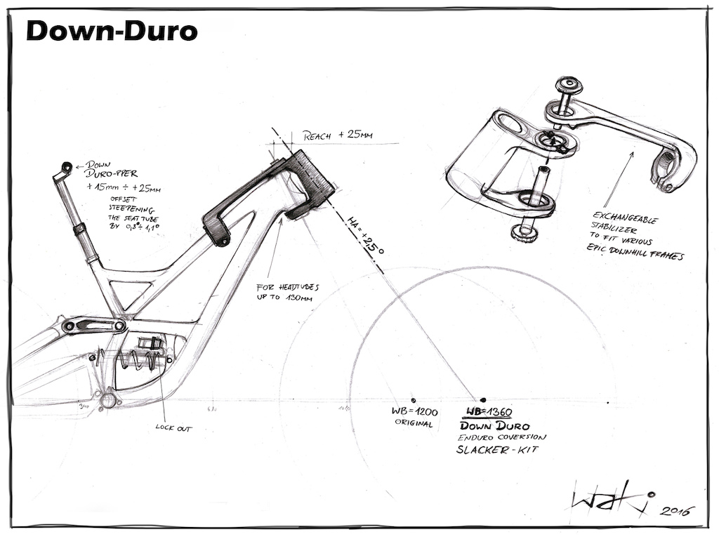Waki-Leaks DOWN-DURO conversion kit