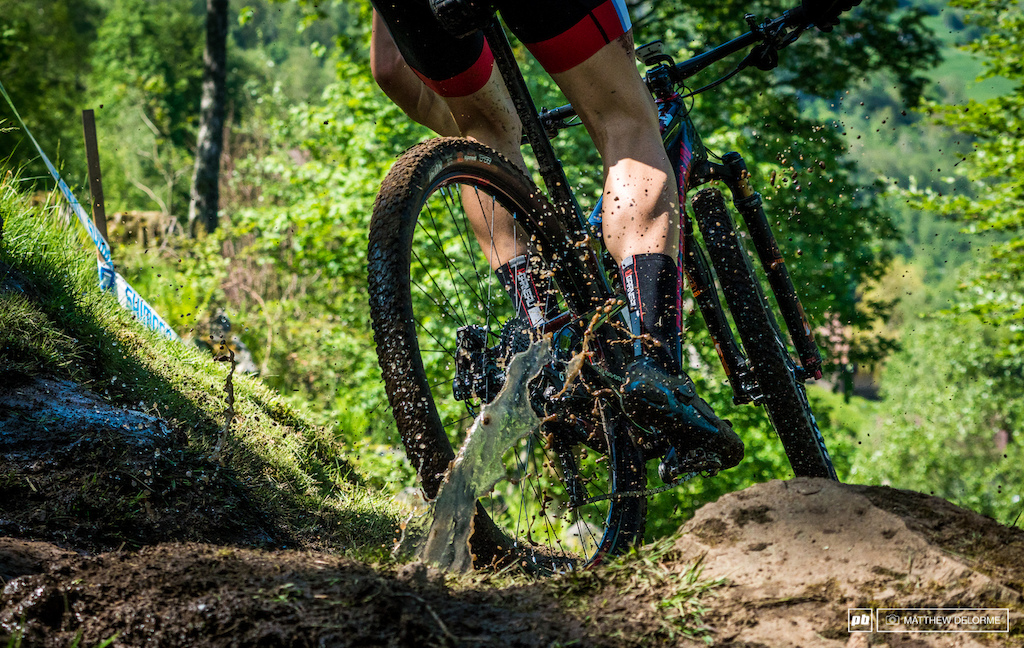 The track is mainly dry, save for the few springs that percolate up and make small sections an absolute muddy mess.