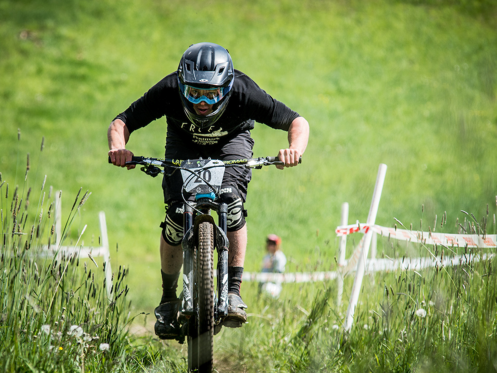 William Cadham races in the 2016 Whistler Spring Classic - Whistler, BC. Photo by Scott Robarts
